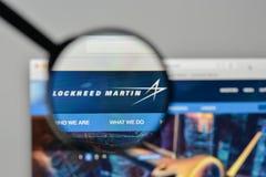 Милан, Италия - 1-ое ноября 2017: Логотип Lockheed Martin в сети Стоковое Изображение RF