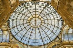 МИЛАН, ИТАЛИЯ - 13-05-2017: Galleria Vittorio Emanuele II в Mila Стоковое Изображение RF