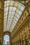 МИЛАН, ИТАЛИЯ - 13-05-2017: Galleria Vittorio Emanuele II в Mila Стоковые Фотографии RF