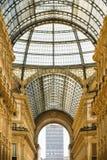 МИЛАН, ИТАЛИЯ - 13-05-2017: Galleria Vittorio Emanuele II в Mila Стоковые Изображения