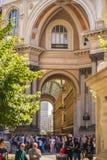 МИЛАН, ИТАЛИЯ - 13-05-2017: Galleria Vittorio Emanuele II в Mila Стоковое фото RF