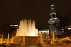 милан фонтана Стоковая Фотография