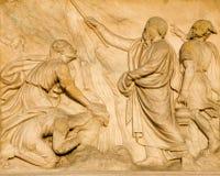 Милан - Duomo - Моисей и вода от утеса Стоковое фото RF