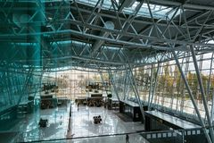 Милан Rastislav Stefanik авиапорта ` s Братиславы, Словакия крыто стоковое фото