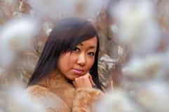 милая азиатской девушки сиротливая Стоковые Фото