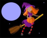 милая ведьма иллюстрация штока