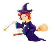 Милая ведьма Стоковое Изображение