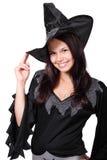 милая ведьма halloween Стоковое Изображение