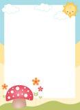Милая граница/рамка весны Стоковое Изображение RF