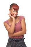 Милая девушка афроамериканца Стоковое Изображение