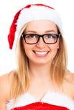 Милая девушка Санта стоковое фото