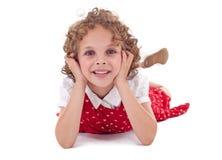 милая девушка смотря smilling вы Стоковая Фотография