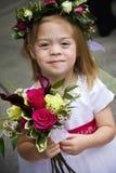 милая девушка цветка Стоковое фото RF