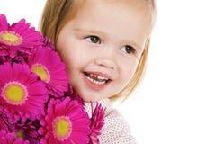 милая девушка цветков немногая Стоковое Изображение