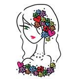 Милая девушка doodle Стоковое Фото