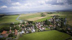 Милая деревня в Нидерландах стоковое изображение rf