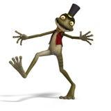 милая жаба toon зеленого цвета лягушки иллюстрация штока