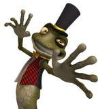 милая жаба toon зеленого цвета лягушки иллюстрация вектора