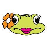 Милая женская лягушка Стоковая Фотография