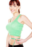 милая женщина ее удовлетворенный вес Стоковые Фото