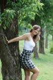 милая женщина парка Стоковые Изображения