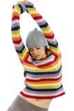 милая женщина свитера стоковые изображения