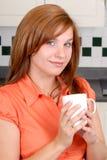 милая женщина redhead стоковое изображение rf