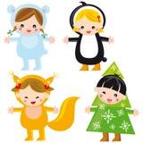 милая зима малышей Стоковая Фотография RF