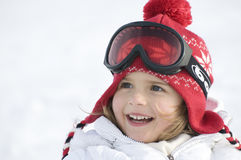 милая зима портрета девушки Стоковое Фото