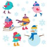 Милая зима птиц Стоковое Изображение RF