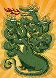 Милая игра лабиринта дракона Стоковая Фотография RF