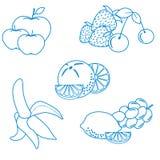 Милая иллюстрация вектора органических плодоовощей и ягод Здорово иллюстрация штока