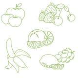 Милая иллюстрация вектора органических плодоовощей и ягод Здорово иллюстрация вектора