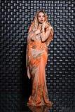 Милая индийская молодая женщина стоковое фото rf