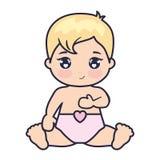 Милая и маленькая любовь младенца иллюстрация вектора
