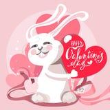 Милая и смешная поздравительная открытка дня ` s валентинки Стоковые Изображения RF