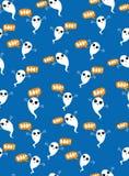 Милая картина вектора призраков летания Белые призраки Adobrable на голубой предпосылке бесплатная иллюстрация