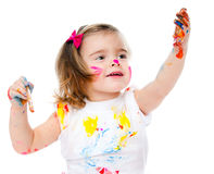 Милая картина маленькой девочки Стоковая Фотография RF