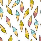 Милая картина мороженного бесплатная иллюстрация