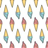 Милая картина мороженного иллюстрация вектора