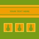 Милая карточка ананасов Стоковое Изображение RF