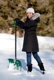 милая копая женщина снежка Стоковое фото RF