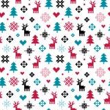 Милая красочная картина пиксела леса зимы для детей Стоковые Фото