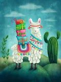 Милая лама Стоковое Изображение