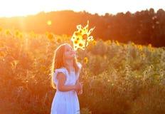 Милая маленькая девочка с ветрянкой Стоковая Фотография