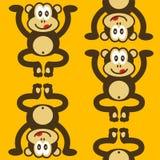 милая маленькая картина обезьяны безшовная Стоковое Изображение