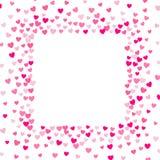 Милая маленькая предпосылка сердец, случайный заказ, различный размер и цвета иллюстрация штока