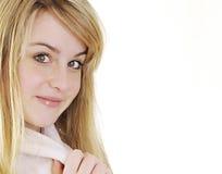Милая молодая женщина в робе Стоковая Фотография RF