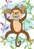 милая обезьяна eps Стоковые Изображения RF