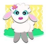 милая овечка цветка Стоковое Фото